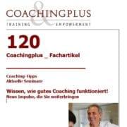 Wissen, wie gutes Coaching funktionert