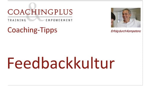 Coaching-Tipps Feedbackkultur