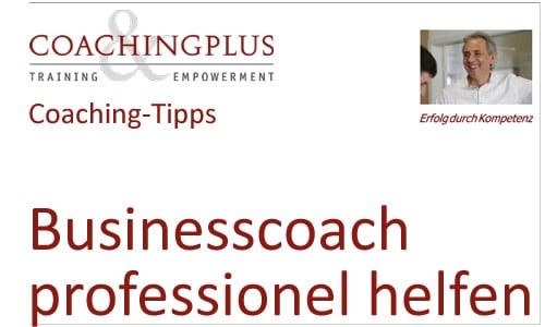 Existenzgründung als Businesscoach