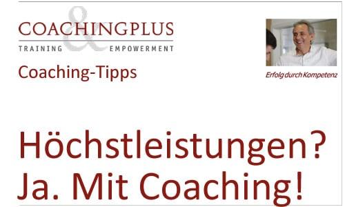 Hohe Anforderungen im Beruf: Getrieben zu Höchstleistungen – Coaching als Lösungsansatz