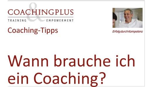 Den Nutzen eines Coachings kennen.