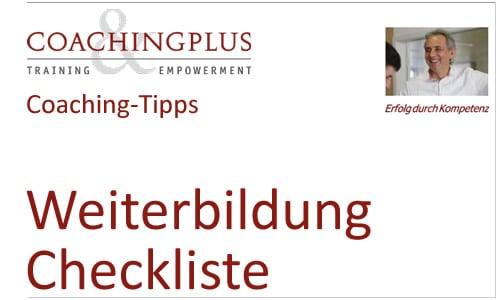 Tipps und Checkliste für die Planung Ihrer Weiterbildung