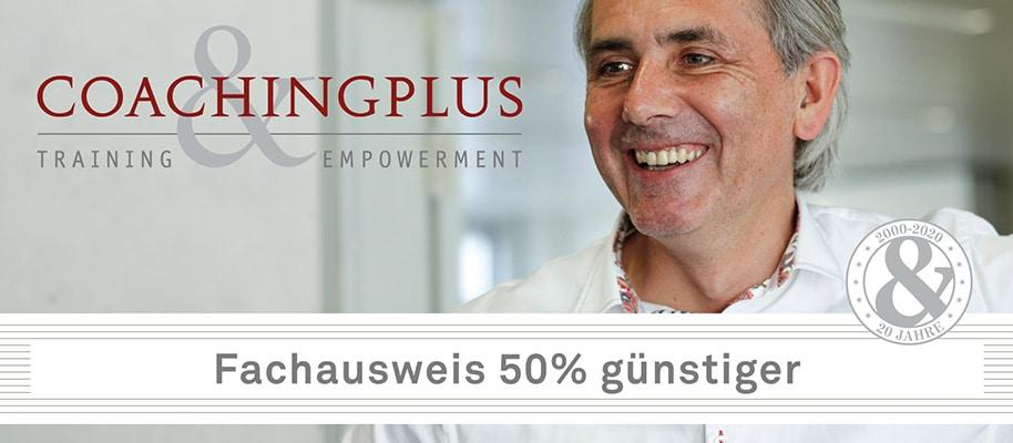 Fachausweis 50% günstiger - Coachingplus Video