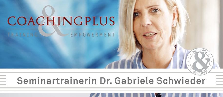 Seminartrainerin Dr. Gabriela Schwieder - YouTube Coachingplus Video