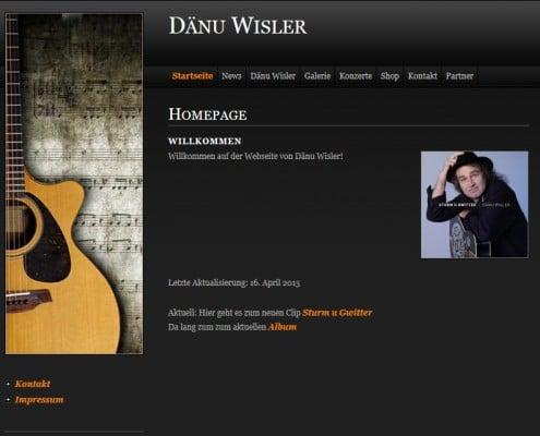 Webseite von Dänu Wisler