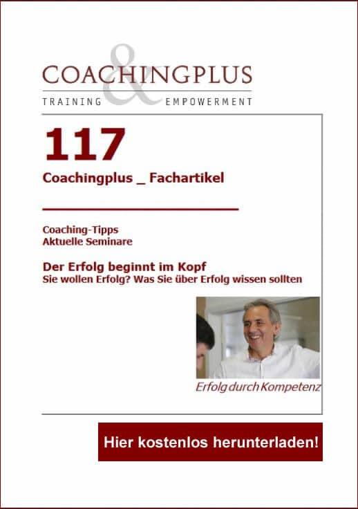 Coachingplus Fachartikel: Der Erfolg beginnt im Kopf!