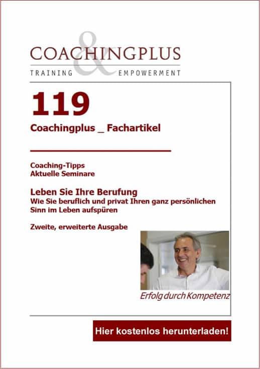 Coachingplus Fachartikel: Leben Sie Ihre Berufung!